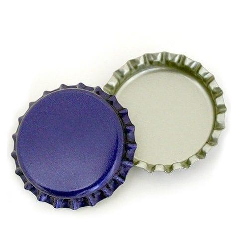 Crown caps 26 mm blue